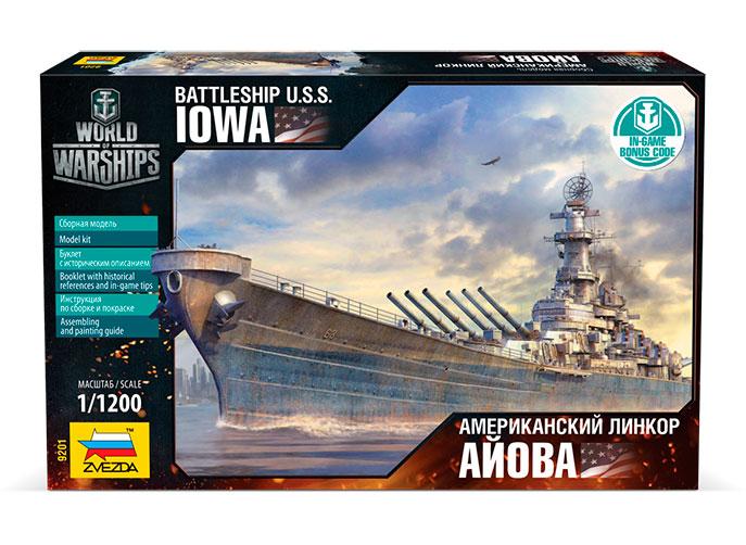 Модель сборная - Американский линкор «Айова»Модели кораблей для склеивания<br>Модель сборная - Американский линкор «Айова»<br>