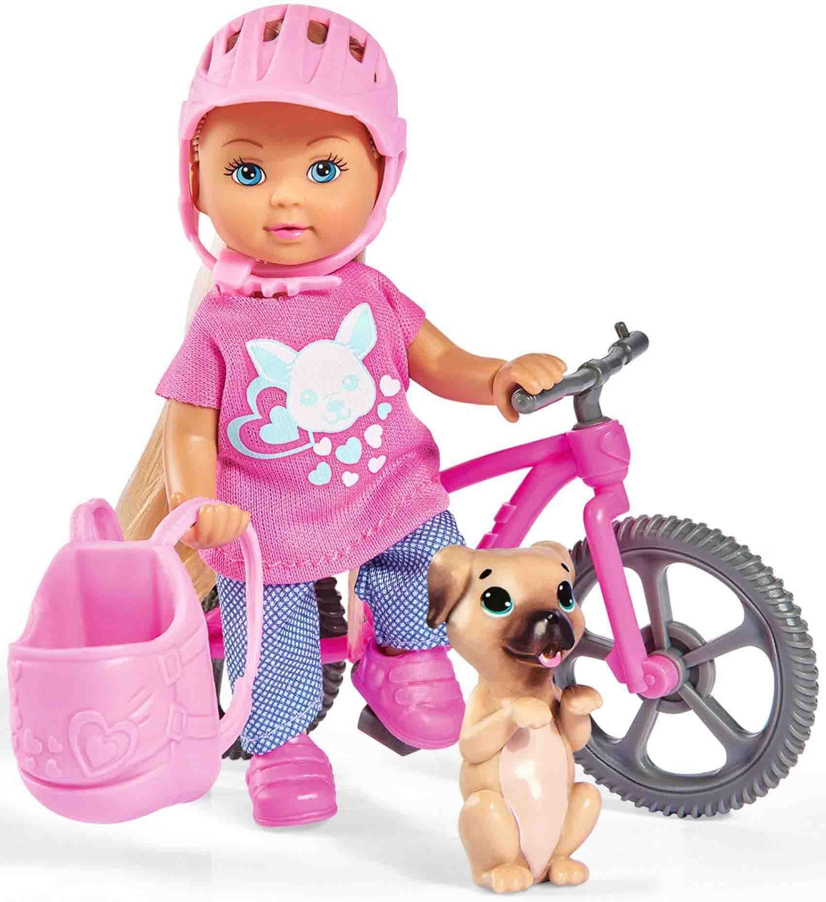Купить Кукла Еви на велопрогулке с собачкой, 12 см, Simba