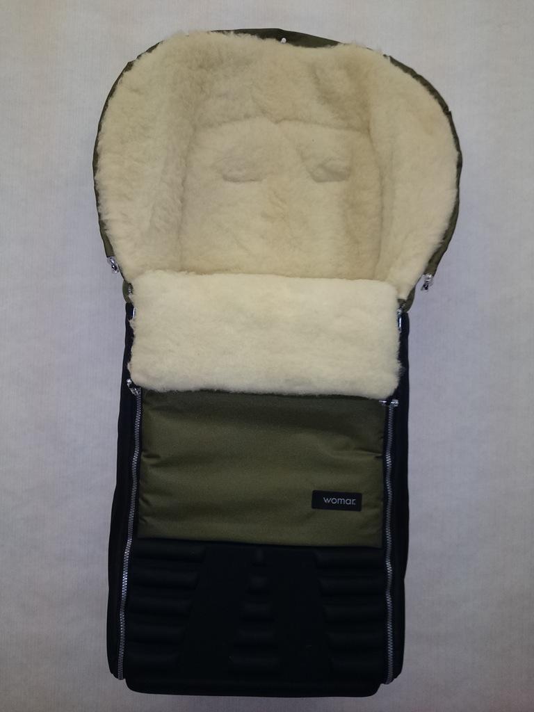 Спальный мешок в коляску №16 из серии Snowman, цвет – оливковый - Прогулки и путешествия, артикул: 171098