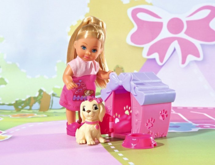 Кукла Еви с собачкой в домикеКуклы Еви<br>Кукла Еви с собачкой в домике<br>