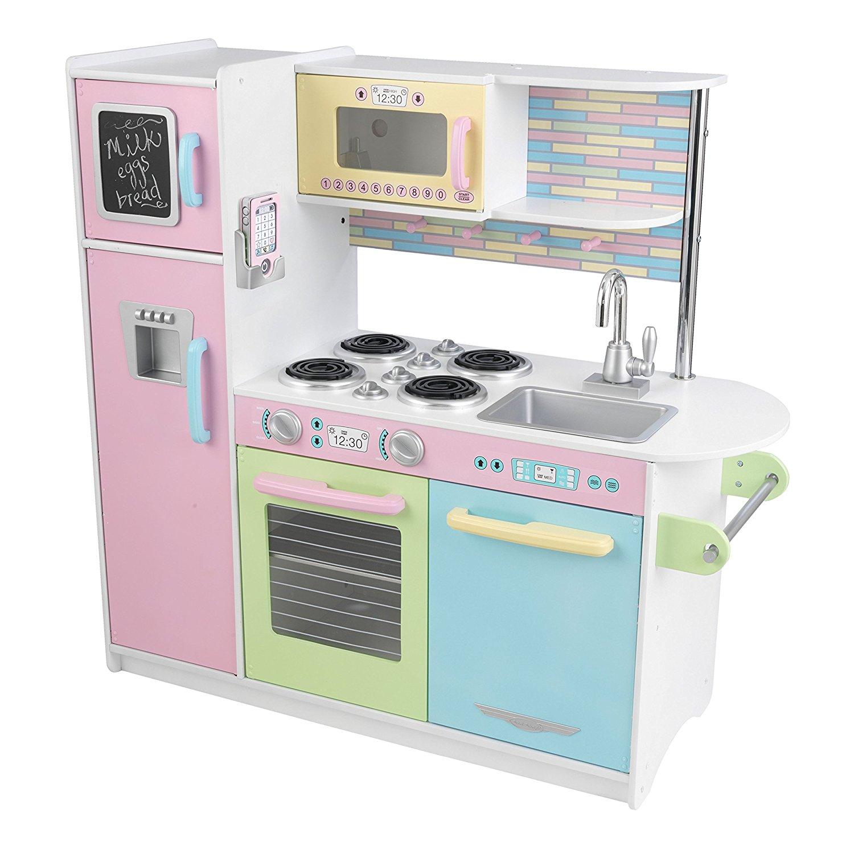 Деревянная кухня для мальчиков и девочек Пастель - Uptown Espresso KitchenДетские игровые кухни<br>Деревянная кухня для мальчиков и девочек Пастель - Uptown Espresso Kitchen<br>