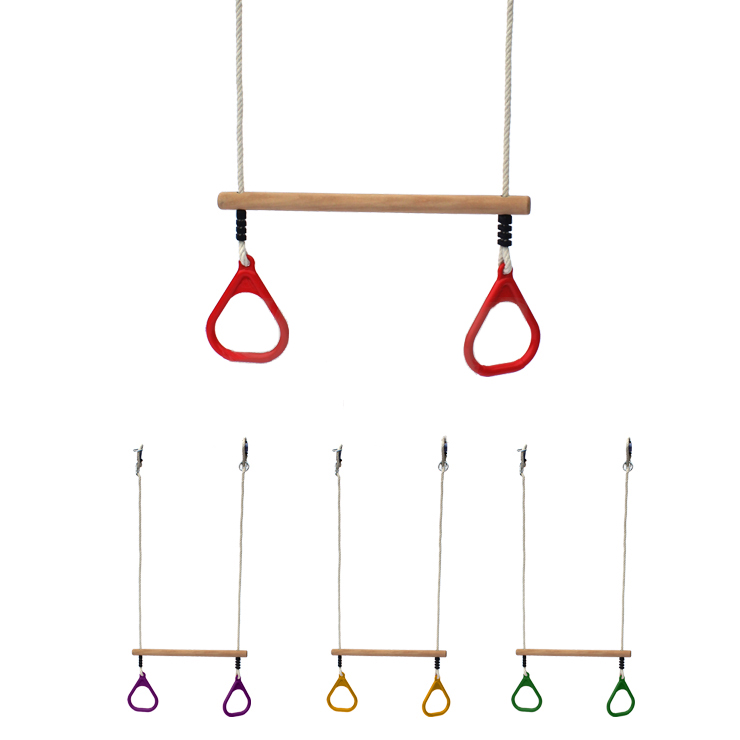 Кольца гимнастические с перекладиной, желтыйАксессуары для комплексов<br>Кольца гимнастические с перекладиной, желтый<br>
