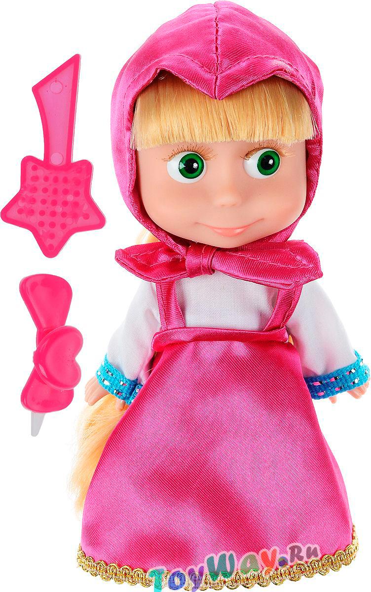 Озвученная кукла Маша из мультфильма Маша и Медведь, 15 см. - Маша и медведь игрушки, артикул: 143914