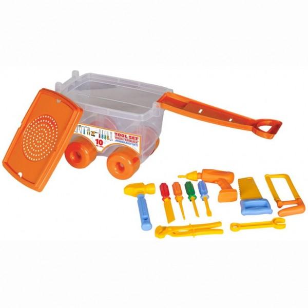 Купить Инструменты в тележке - Tool Set, 10 деталей, Pilsan