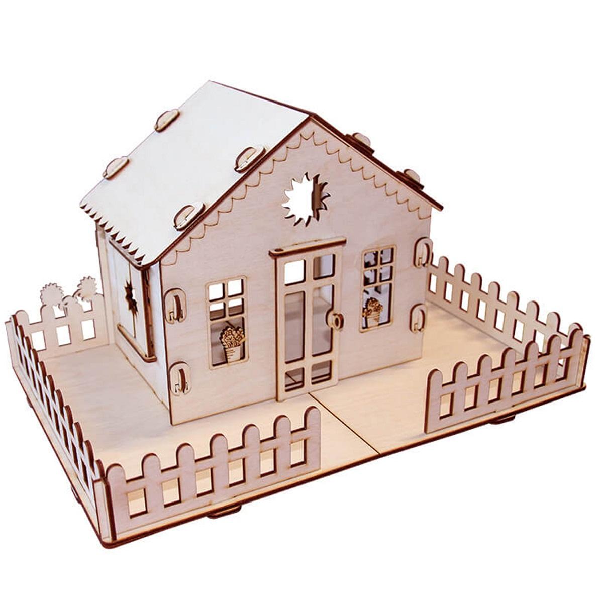 Деревянный конструктор из серии - Я дизайнер - Дачный кукольный домик