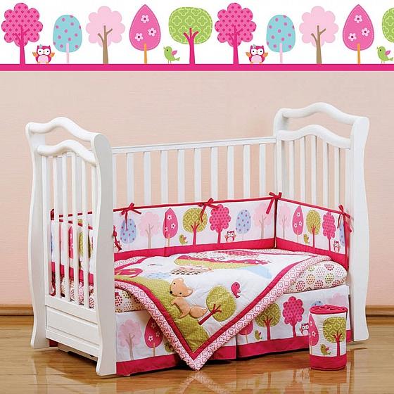 Набор постельного белья для новорожденных Jolly Balloon, 7 предметовДетское постельное белье<br>Набор постельного белья для новорожденных Jolly Balloon, 7 предметов<br>
