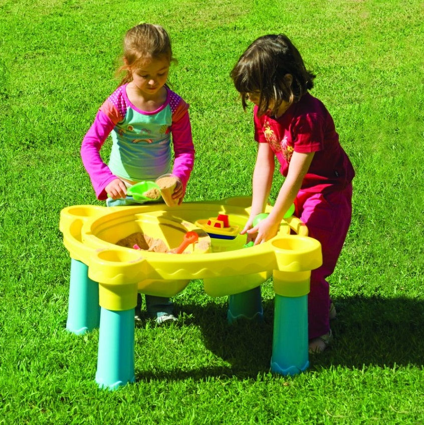 Детская пластиковая песочница-стол Marian Plast 375 Песок – Вода