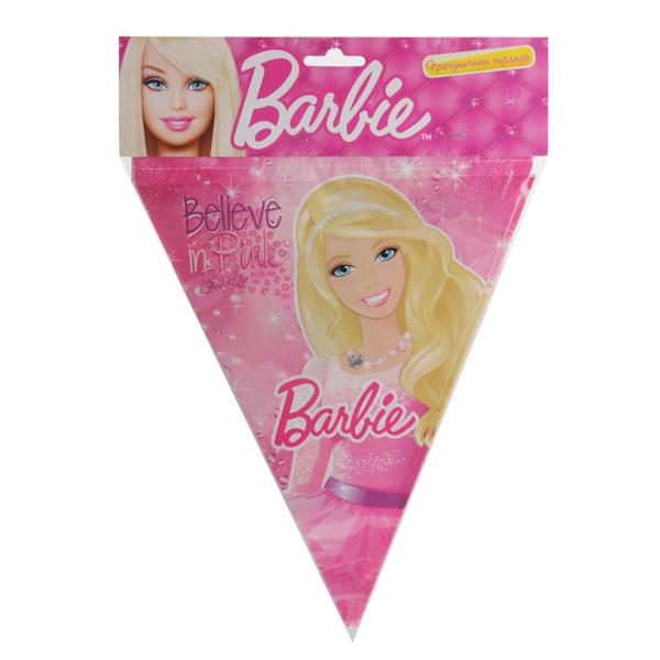 Празднична гирлнда – флаги, дизайн Барби, 3 метраBarbie (Барби)<br>Празднична гирлнда – флаги, дизайн Барби, 3 метра<br>
