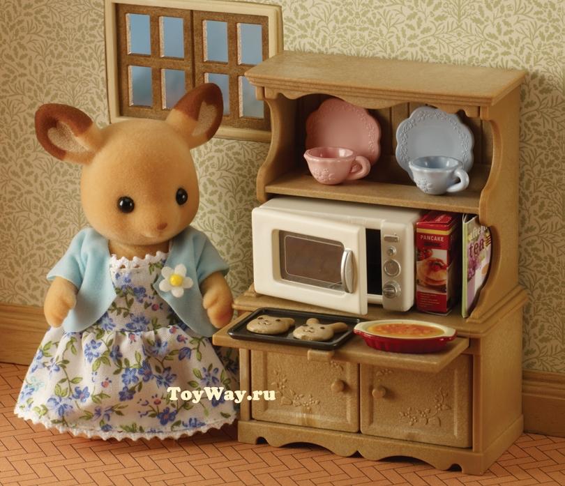 Набор  Буфет с микроволновой печью  - Игрушки Sylvanian Families, артикул: 68713
