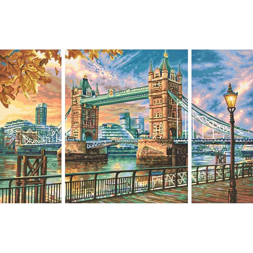 Триптих для раскрашивания по номерам - Тауэрский мост, 50 х 80 см. Schipper