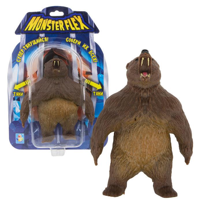 Купить Тянущаяся фигурка из серии Monster Flex Гризли, блистер, 15 см, 1TOY