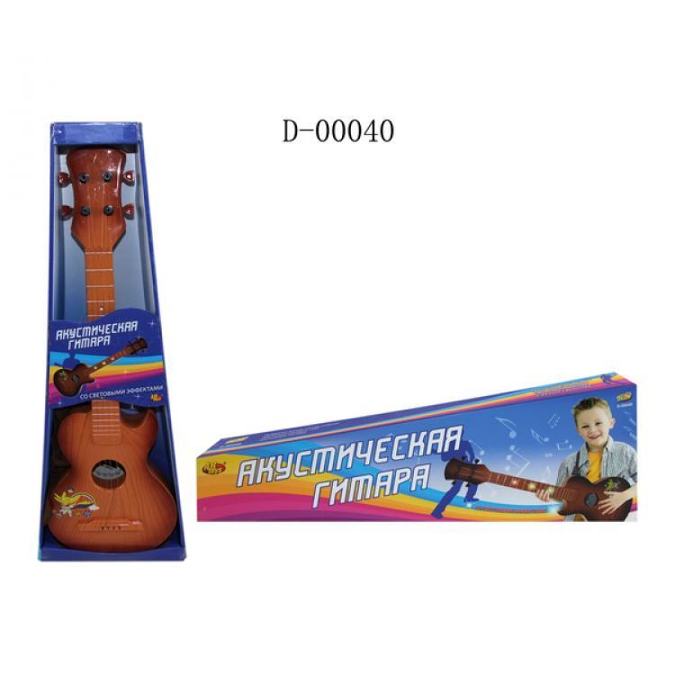 Гитара акустическая коричневая, со световыми эффектамиГитары<br>Гитара акустическая коричневая, со световыми эффектами<br>