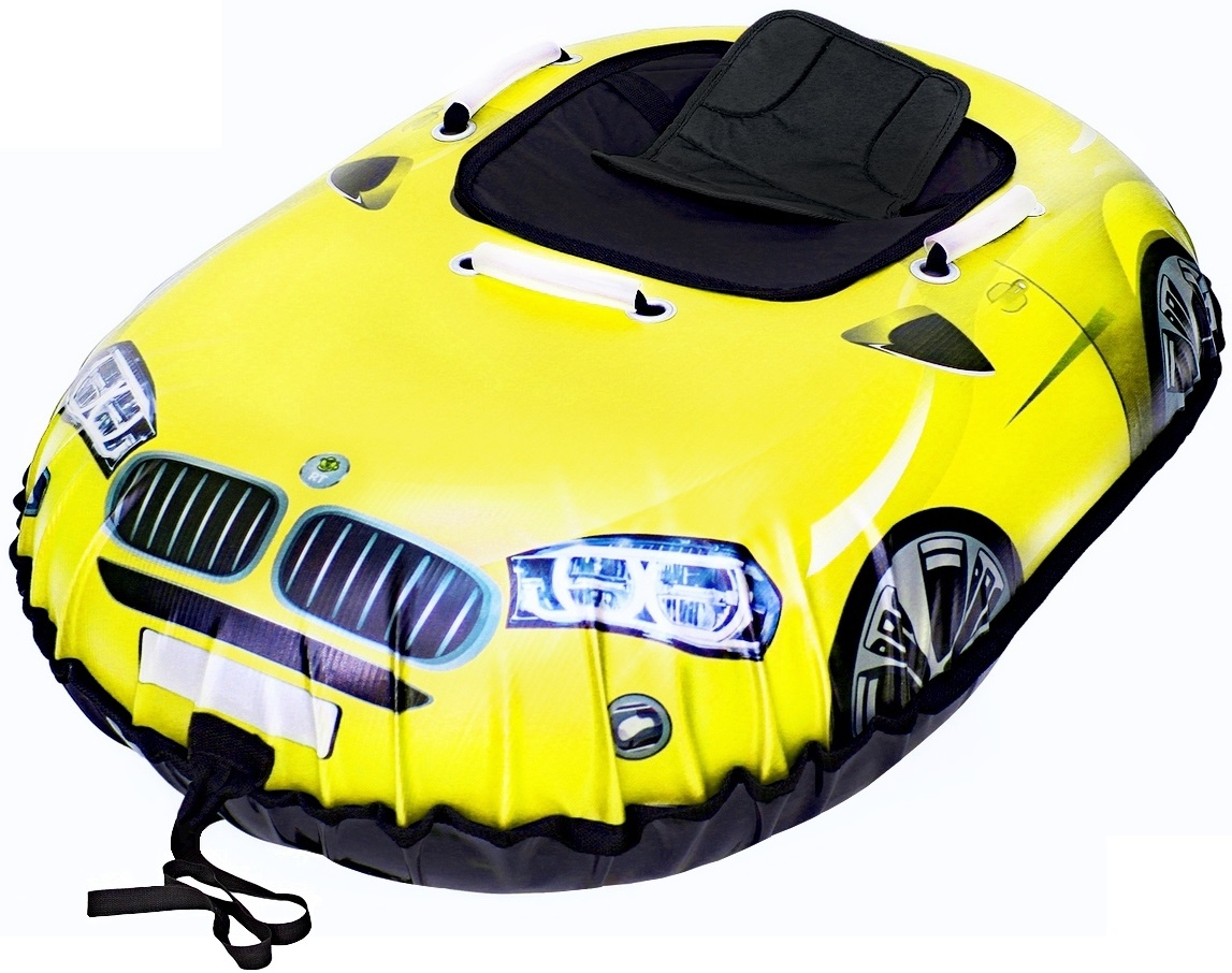Санки надувные Тюбинг Snow auto X6, цвет желтыйВатрушки и ледянки<br>Санки надувные Тюбинг Snow auto X6, цвет желтый<br>
