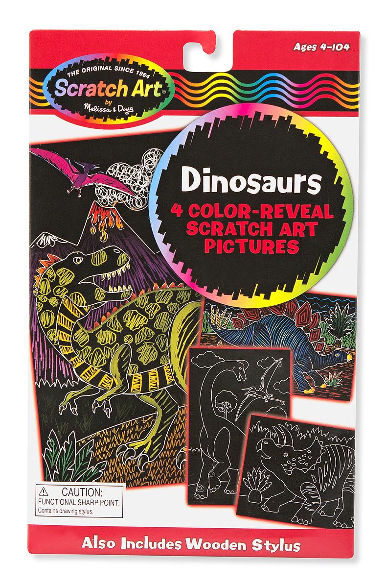 Набор для рисования «Scratch art. Динозавры»с различными эффектами<br>Набор для рисования «Scratch art. Динозавры»<br>