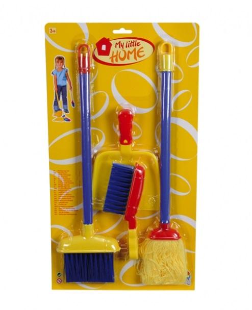 Набор для уборки в домеУборка дома, стирка, глажка<br>В набор входят: швабра для влажной уборки и метла на длинных ручках (высотой 51 см.), щетка и совок с короткими ручками...<br>