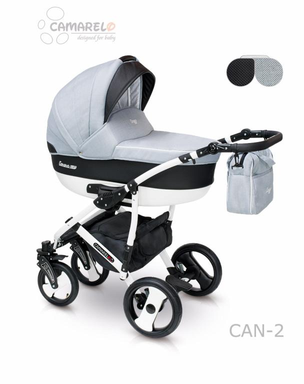 Детская коляска Camarelo Carera New 2 в 1, цвет - Can_2Детские коляски 2 в 1<br>Детская коляска Camarelo Carera New 2 в 1, цвет - Can_2<br>