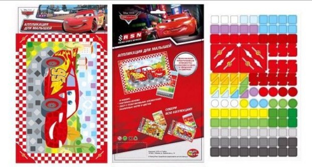 Мозаика для малышей Disney – ТачкиАппликация, пайетки<br>Мозаика для малышей Disney – Тачки<br>