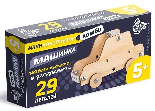 Конструктор из дерева и металла МашинкаДеревянный конструктор<br>Конструктор из дерева и металла Машинка<br>