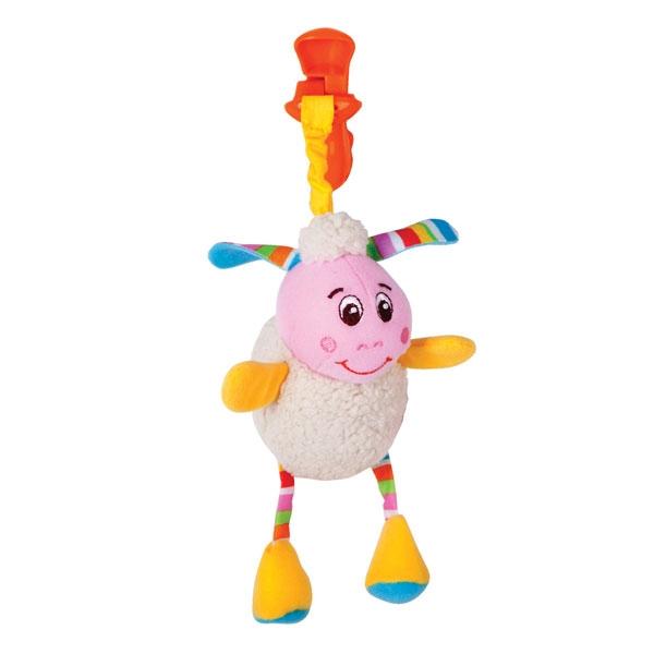 Игрушка Подвеска погремушка в виде овечки Лили 1 - Детские погремушки и подвесные игрушки на кроватку, артикул: 49049