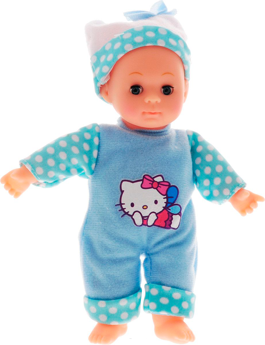 Пупс Hello Kitty, 18 см., озвученный, закрываются глазкиКуклы Карапуз<br>Пупс Hello Kitty, 18 см., озвученный, закрываются глазки<br>