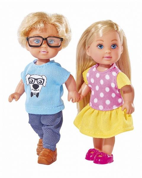 Набор кукол Еви и Тимми, 12 см.Куклы Еви<br>Набор кукол Еви и Тимми, 12 см.<br>