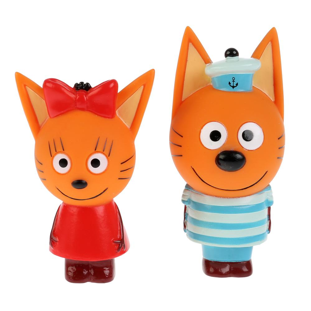 Купить Игрушка из пластизоля для ванны из серии Три кота – Карамелька и Коржик, в сетке ), Играем вместе