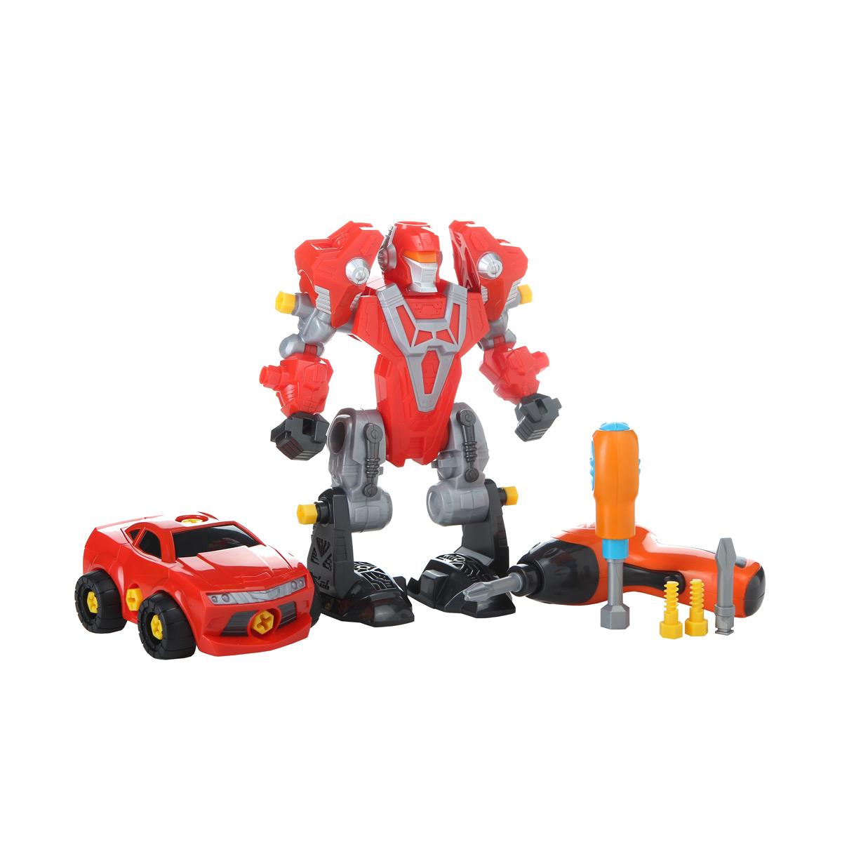 Робот-трансформер с отверткой и шуруповертомИгрушки трансформеры<br>Робот-трансформер с отверткой и шуруповертом<br>