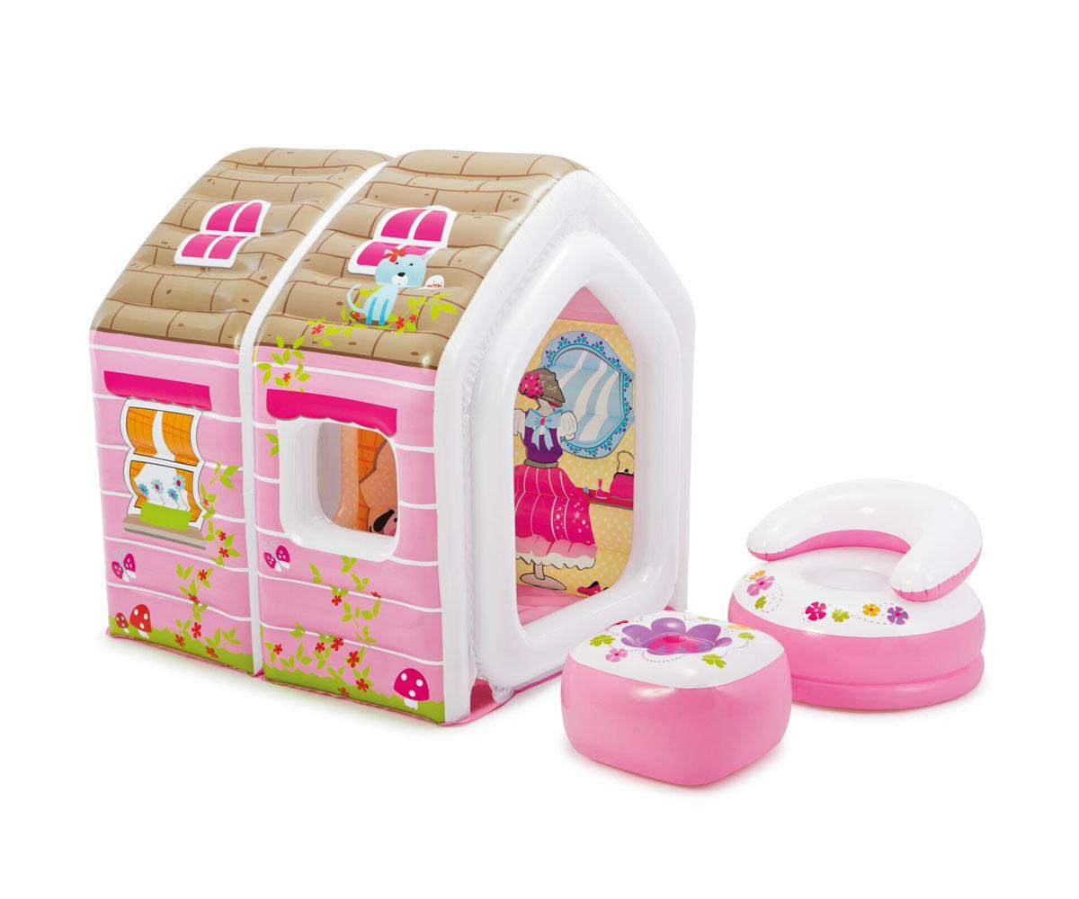 Купить Надувной игровой центр - Домик Принцессы, Intex
