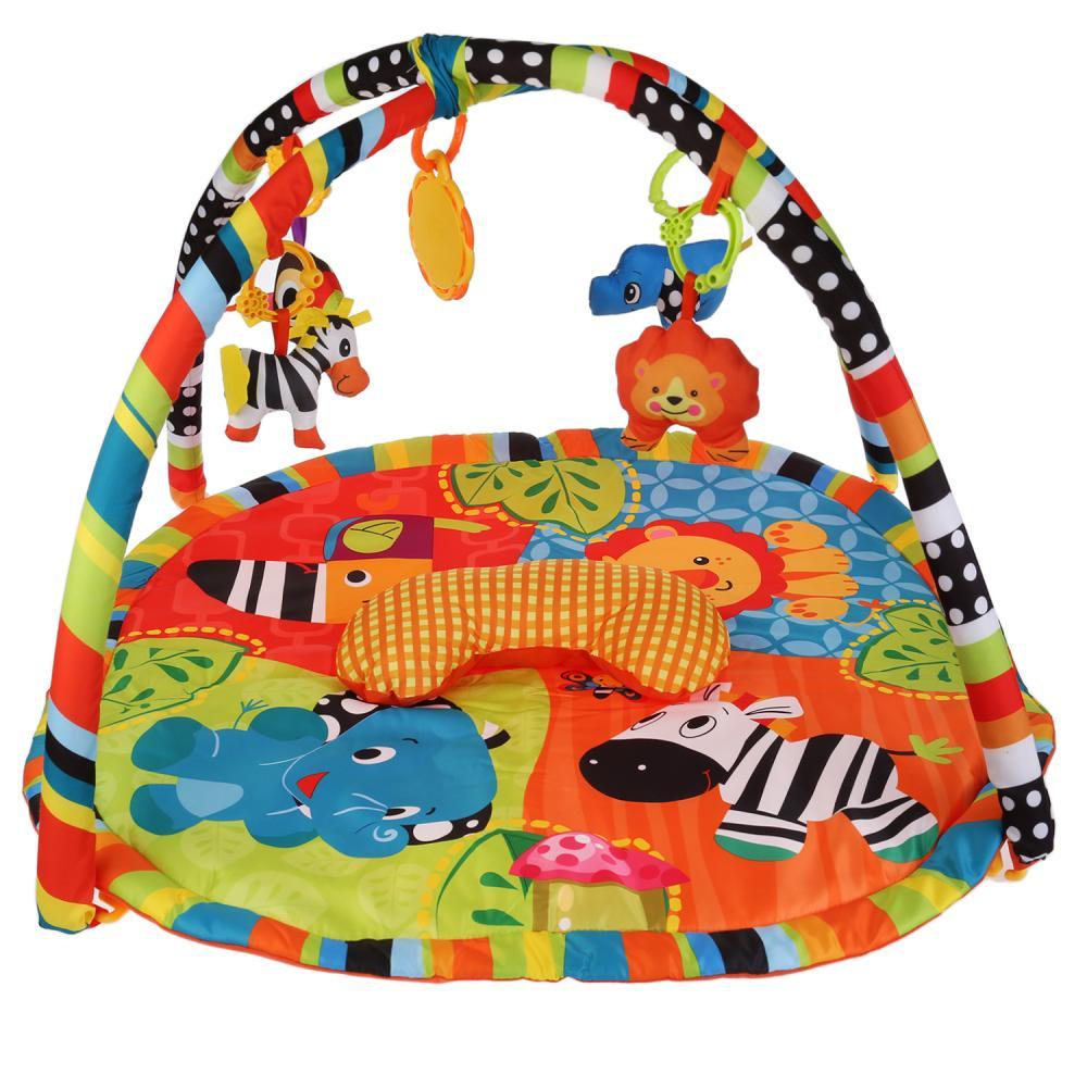Купить Детский игровой коврик – Джунгли, с подушкой и мягкими игрушками на подвеске, Умка