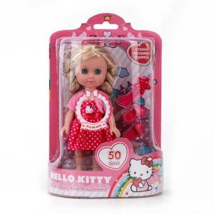 Кукла Машенька, 15 см., озвученная, с аксессуарами, из серии «Hello Kitty»Куклы Карапуз<br>Кукла Машенька, 15 см., озвученная, с аксессуарами, из серии «Hello Kitty»<br>