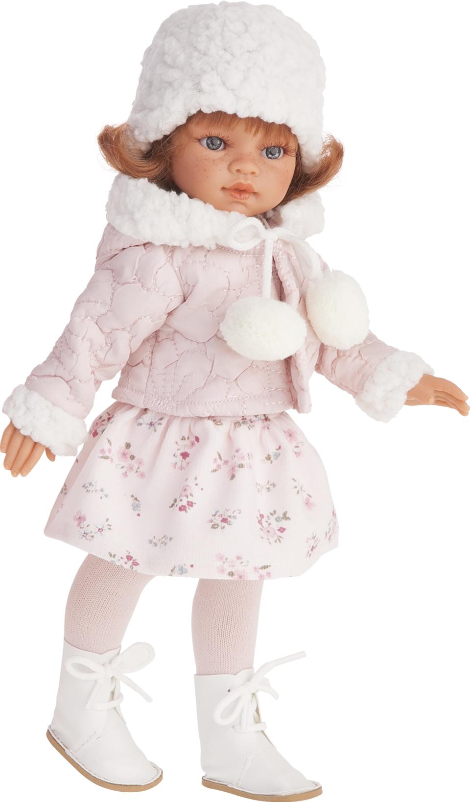 Кукла Эльвира зимний образ, рыжая, 33 см.Куклы Антонио Хуан (Antonio Juan Munecas)<br>Кукла Эльвира зимний образ, рыжая, 33 см.<br>
