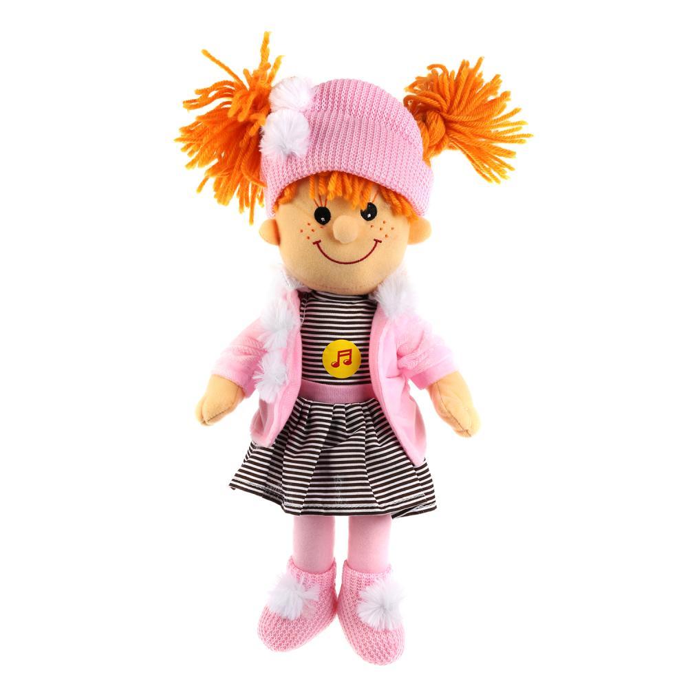 Купить Кукла мягкая 35 см озвученная, 4 стиха А. Барто и песни, Мульти-Пульти