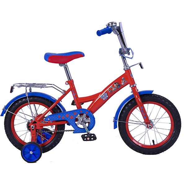 Купить Велосипед детский - Щенячий патруль, красно-голубой со страховочными колесами