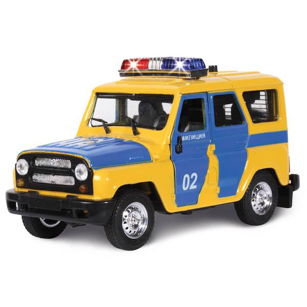 Машина металлическая инерционная – УАЗ - Милиция с сиреной и мигалкамиУАЗ<br>Машина металлическая инерционная – УАЗ - Милиция с сиреной и мигалками<br>