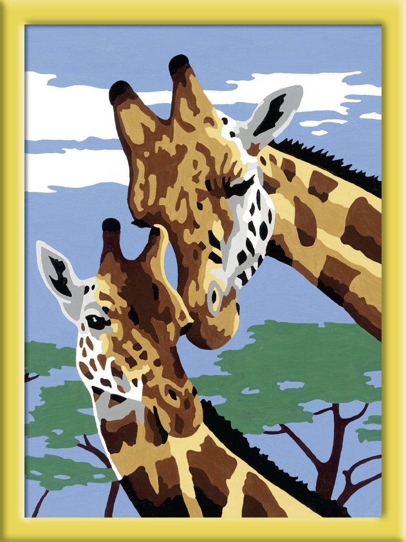 Раскрашивание по номерам - Веселые жирафы, размер 12 х 9 см.Раскраски по номерам Schipper<br>Раскрашивание по номерам - Веселые жирафы, размер 12 х 9 см.<br>
