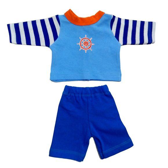 Одежда для куклы 38-43 см - кофточка, брючки Море