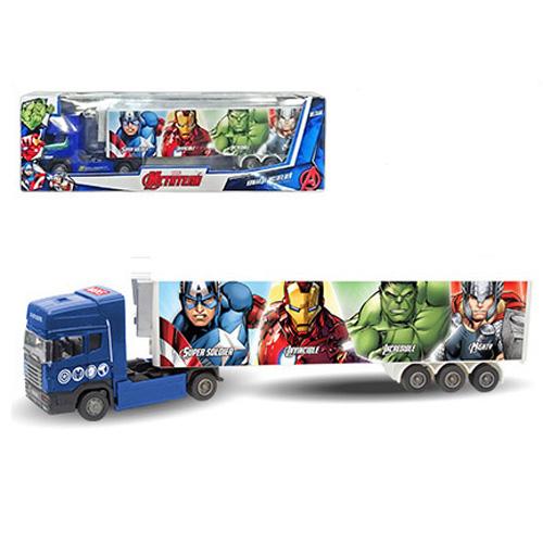 Машинка Мстители - тягач с полуприцепом, Avengers, Marvel, 1:48Грузовики/самосвалы<br>Машинка Мстители - тягач с полуприцепом, Avengers, Marvel, 1:48<br>