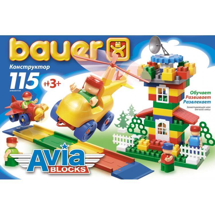 Конструктор «Авиа», 115 элементовКонструкторы Bauer Кроха (для малышей)<br>Конструктор «Авиа», 115 элементов<br>