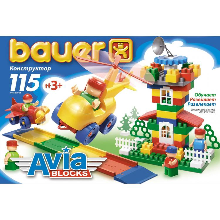 Конструктор «Авиа», 115 элементов - Конструкторы Bauer Кроха (для малышей), артикул: 127391