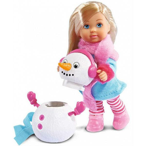 Кукла Еви и снеговик, 12 см.Куклы Еви<br>Кукла Еви и снеговик, 12 см.<br>