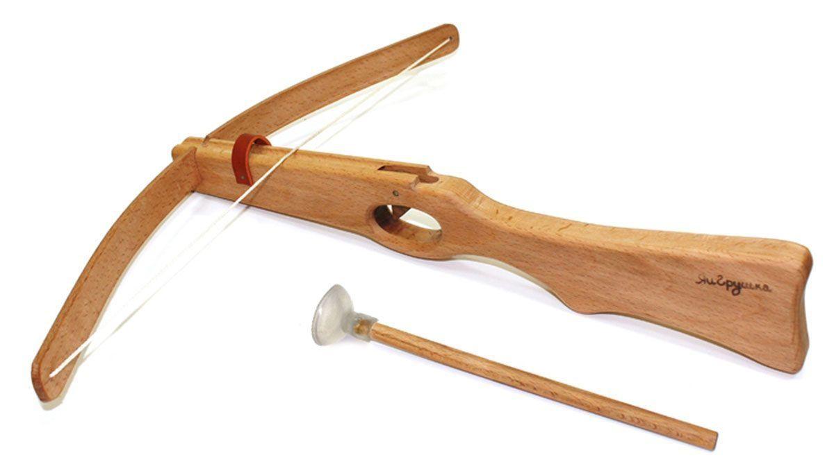 Купить Арбалет из бука со стрелой, ручная работа, ЯиГрушка