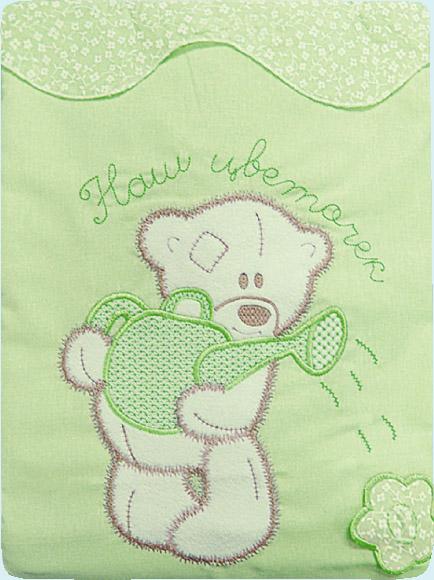 Постельное белье Сабина, 3 предмета, зеленоеДетское постельное белье<br>Постельное белье Сабина, 3 предмета, зеленое<br>