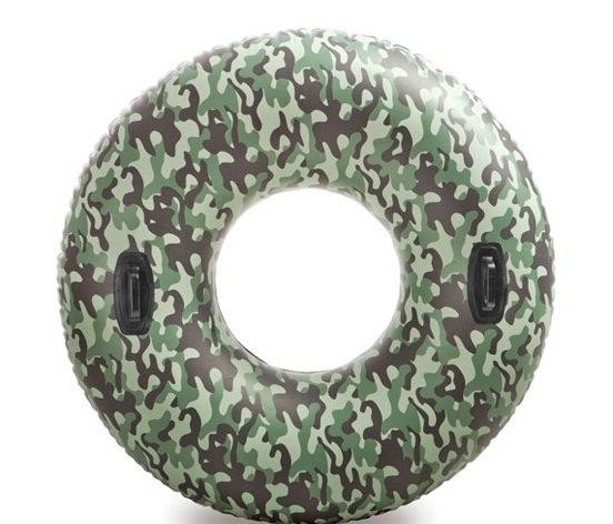 Камуфлированный надувной кругНадувные животные, круги и матрацы<br>Камуфлированный надувной круг<br>