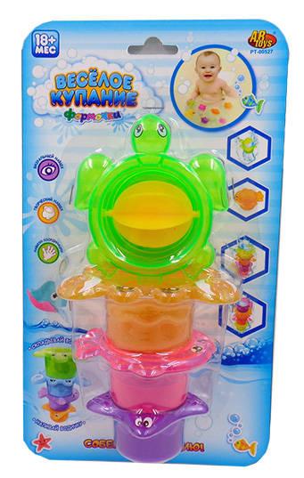 Черепаха-мельница для ванной, в наборе с аксессуарами  – Веселое купаниеРазвивающие игрушки<br>Черепаха-мельница для ванной, в наборе с аксессуарами  – Веселое купание<br>