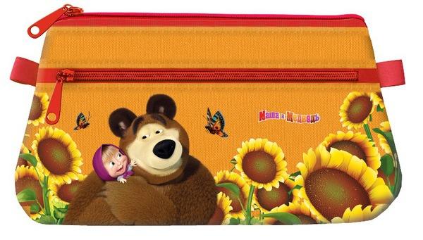 Пенал-косметичка Маша и Медведь ПодсолнухиПеналы<br>Пенал-косметичка Маша и Медведь Подсолнухи<br>
