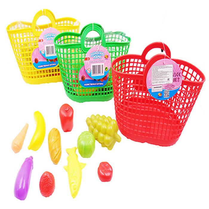 Набор Помогаю Маме - Набор продуктов в корзине, 11 предметов, 3 цветаАксессуары и техника для детской кухни<br>Набор Помогаю Маме - Набор продуктов в корзине, 11 предметов, 3 цвета<br>