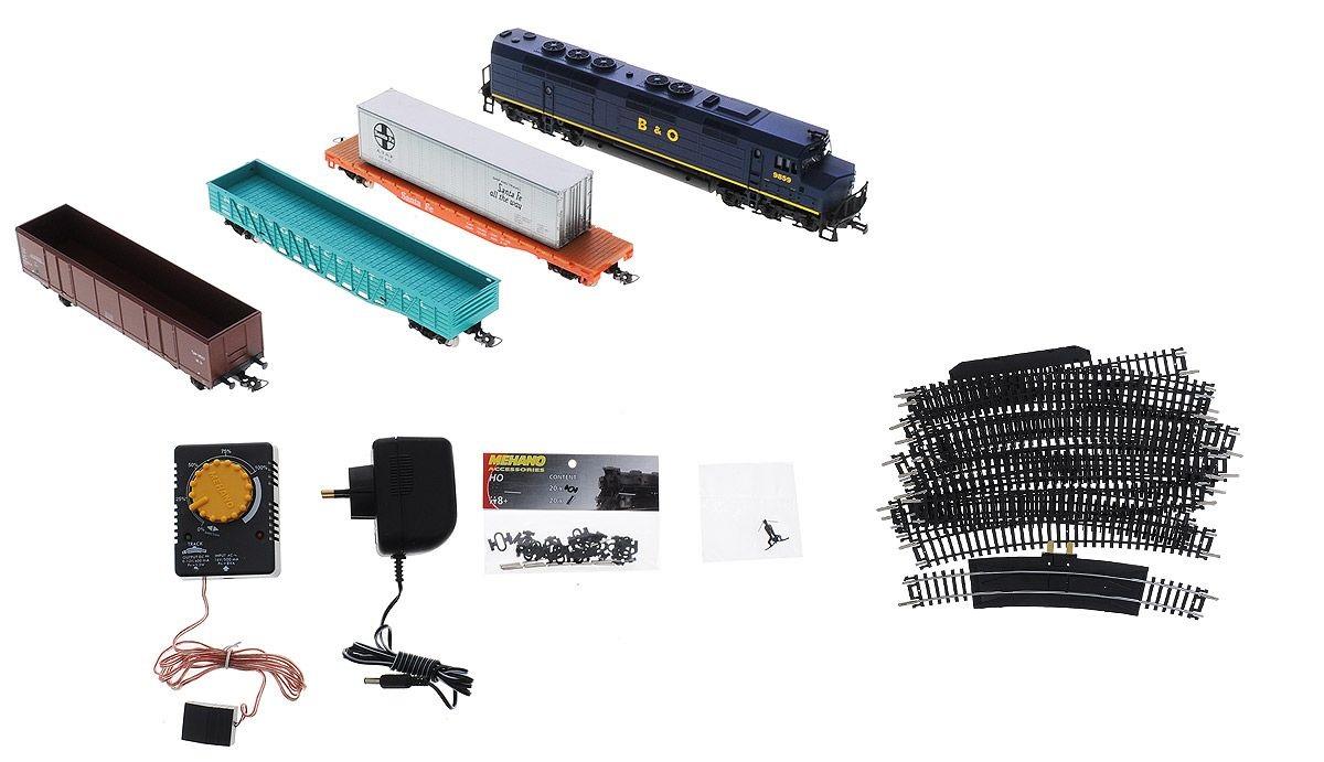 Стартовый набор из серии Mehano Hobby - тепловоз B&amp;O с 3-мя вагонамиДетская железная дорога<br>Стартовый набор из серии Mehano Hobby - тепловоз B&amp;O с 3-мя вагонами<br>