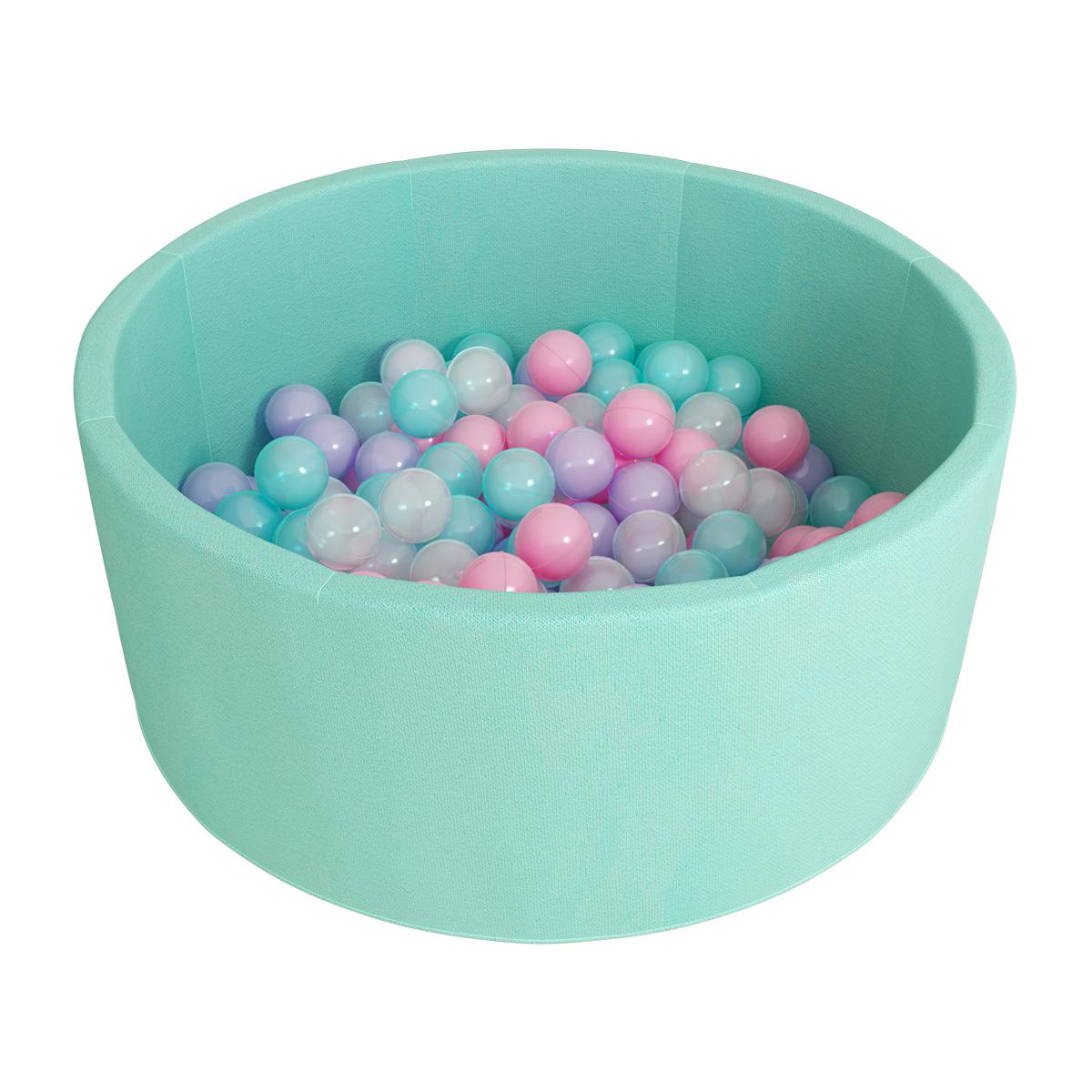 Купить Сухой бассейн Romana - Airpool ДМФ-МК-02.53.01, бирюзовый с розовыми шариками