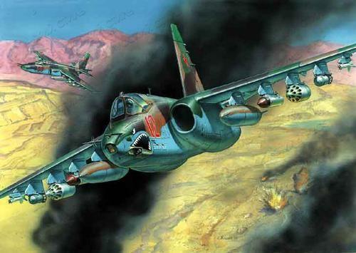 Подарочный набор. Модель для склеивания - Советский штурмовик Су-25Модели самолетов для склеивания<br><br>