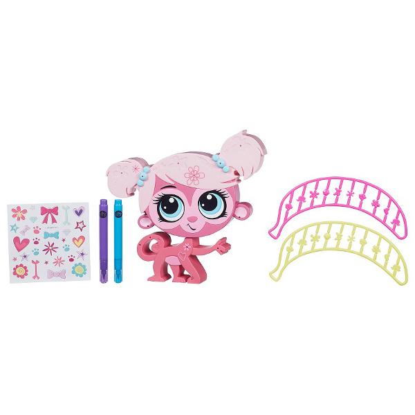 Игровой набор - Укрась зверюшку, Pet ShopLittlest Pet Shop – Маленький зоомагазин<br>Игровой набор - Укрась зверюшку, Pet Shop<br>